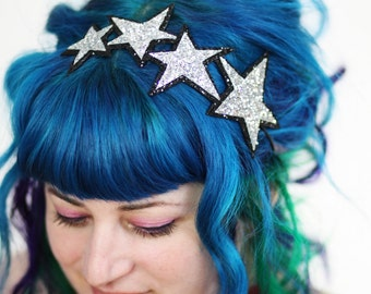 Woman's Hair Band Stars Headband, Glitter, Various Colours