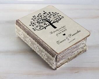 Custom ring box Wedding ring box Ring bearer box Personalised wedding box Love tree ring box Ring bearer pillow Engagement box Ring Holder