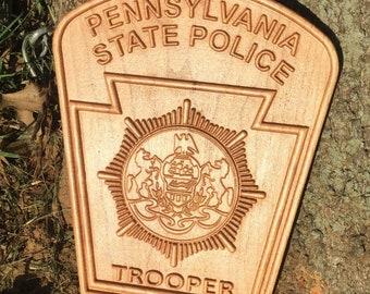 Pennsylvania State Police plaque