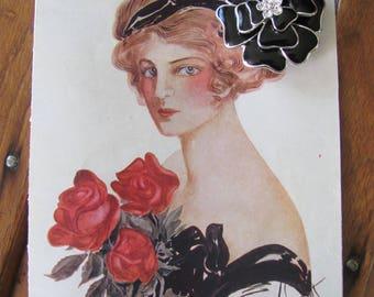 Vintage Flower Brooch on a Card