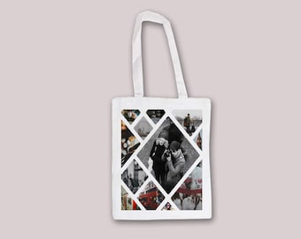 Custom Customizable Personalized Your Photo Picture - Tote Bag Reusable shopping bag