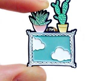 "Pin brooch ""A window on the sky"""