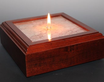 Dynasty Cream Marble in Cherry Hardwood Oil Candle