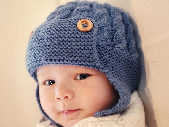 Pdf Knitting Pattern Baby Aviator Hat Pattern Earflap Hat Pattern