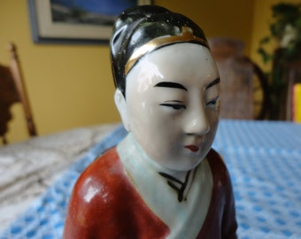 Chinese Scholar Statue Stamped and Marked