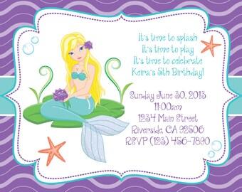 Mermaid Theme Invitation