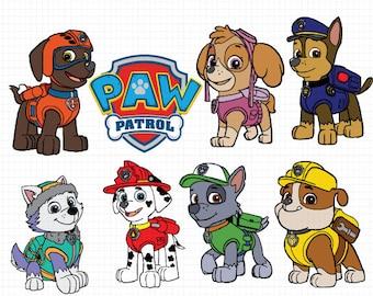 Paw Patrol Svg, Paw Patrol Cut files, Paw patrol Dxf, Eps & Png Cutfiles, Marshall SVG, Chase, Paw Patrol Clipart, Paw Patrol Scrapbook.