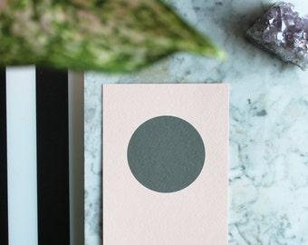 Oops printing sale! Circle, by Julie Tillman, minimal geometric peach and dark grey large art print. wall art. on trend, Scandinavian Style