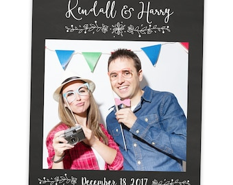 Chalkboard Selfie Frame Prop | Wedding Gift | Wedding Photo Prop | Photo Booth Prop | Wedding Props | Chalk Board | Wedding Frame