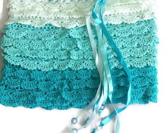 Lace skirt chrochet skirt mini skirt teal skirt