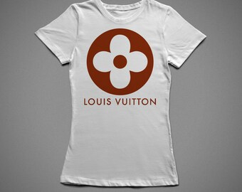 Louis Vuitton flower, T-shirt with individual design, 100% cotton, for woman/man
