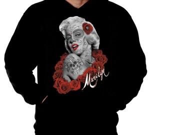 Monroe Sweatshirt Hoodie Dia de los muertos Hoody