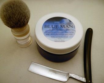 BLUE MAN Tallow & Shea Butter Shaving Soap 5.0 Oz