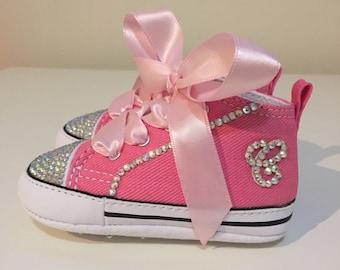 Infant Rhinestone Converse Shoes! Crib shoes!