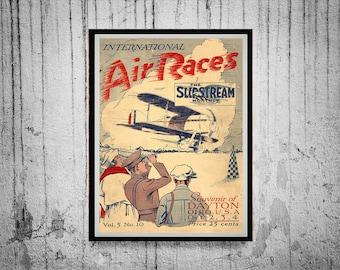 Poster of a Vintage 1923 Aircraft Magazine Cover