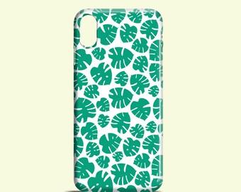 Tiny Monstera iPhone X case / iPhone 8, 8 Plus, plant iPhone 7, emerald iPhone SE, floral iPhone 7 Plus, iPhone 6/6S, iPhone 5S, iPhone 5