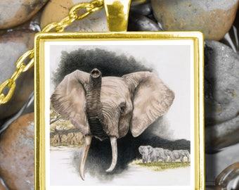 Lucky Elephant Necklace Pendant