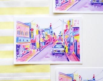 Tokyo Streetscape Vinyl Sticker