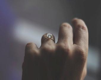 Crystal Quartz Engagement Ring