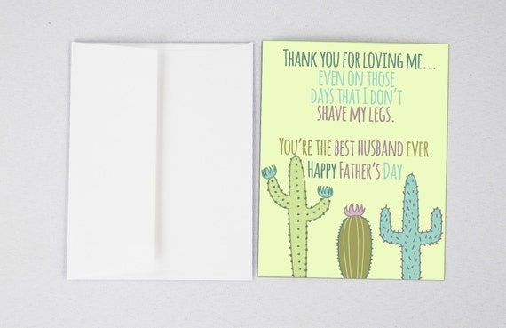 Cactus husband card husband fathers day card funny m4hsunfo