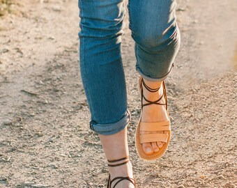 Camel Gladiator Sandals,  Lace up sandals, Greek Sandals, Leather Sandals,Brown Sandals, Leather Gladiator, Womens Gladiators