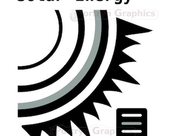 Solar Energy Icon. Clip Art Commercial Use