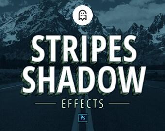 Streifen Schatteneffekte für Photoshop