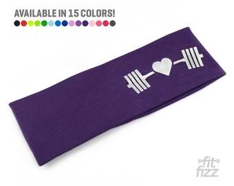 Workout headband for Women | Purple Headband | Gym Hair Don't Care | Fitness Headband for Women | Yoga Headband | Crossfit Gift