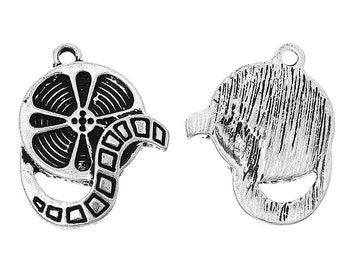 2 or 5 or 10 pcs. Antique Silver Movie Reel Charms Pendants - 23mm X 18mm
