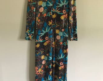 Vintage Zona Fink Sequin Maxi Dress