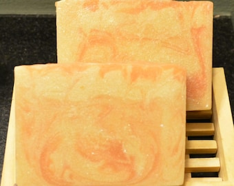 Handcrafted Apricot Freesia 'Silky Goat' Soap