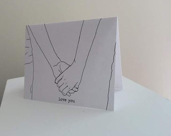 "Lesbian ""love you"" Card // Lesbian Valentine's Day // Lesbian Wedding // Two Brides // Lesbian Love Card // Lesbian Romantic Card"