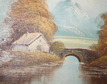 """Oil on Canvas """"Landscape"""" Signed P. Klaus"""