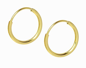 Endless Gold Hoops