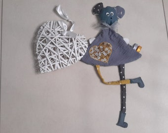 Toy mouse gray