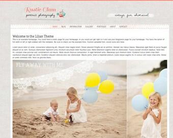 Responsive Wordpress Template - Wordpress Theme - Wordpress Photography website - wordpress photography blog