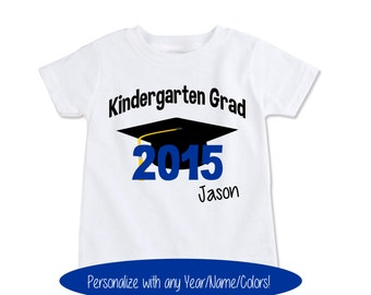 Funny Graduation Shirt, Kindergarten Graduation Shirt, End of the year Shirts Personalized kids graduation Any name/year/colors (EX 384)