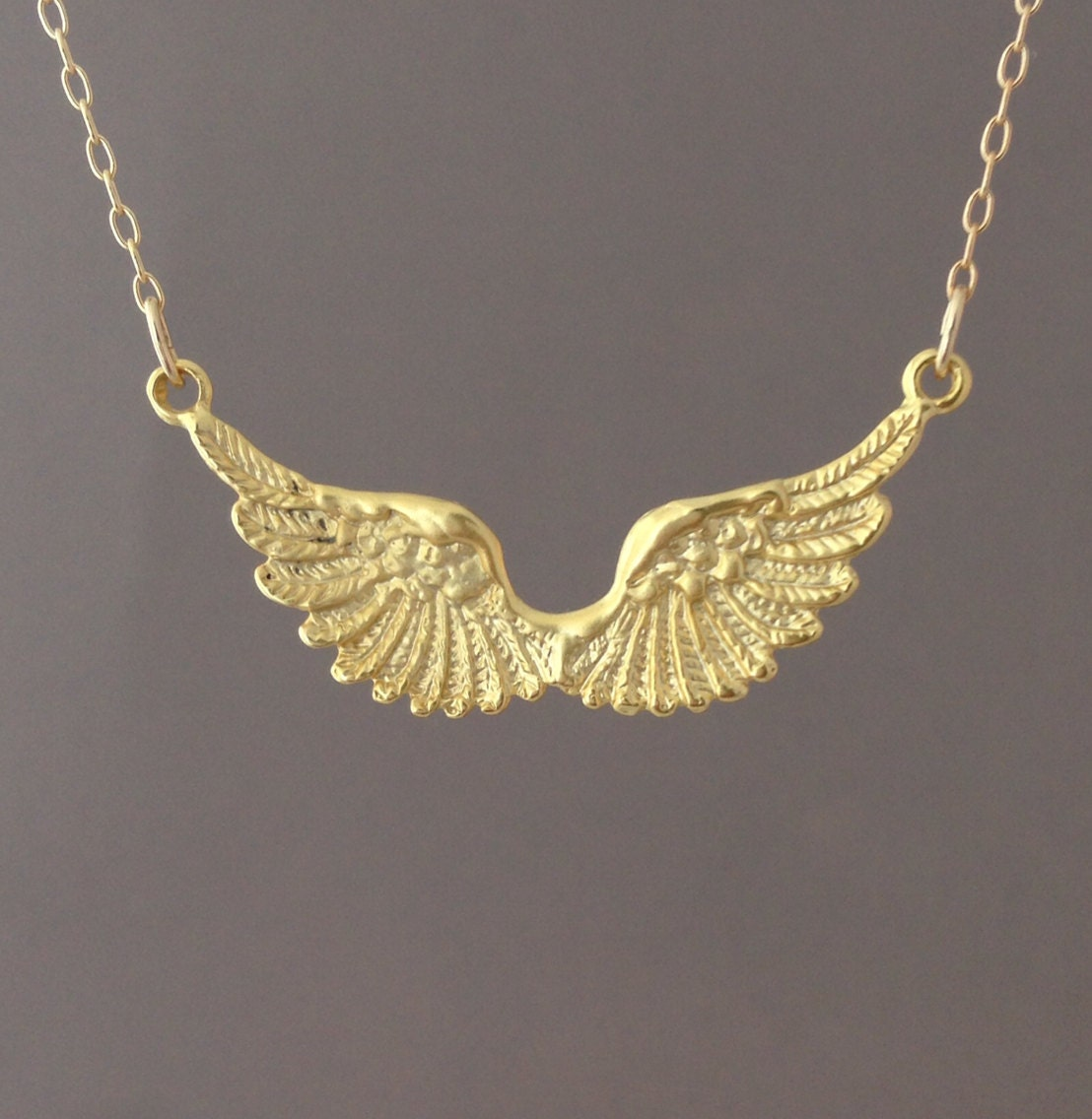silver pendant wing wings necklace jewellery bestow shop double angel
