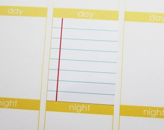 16 Lined paper Stickers! Perfect for your Erin Condren Life Planner!