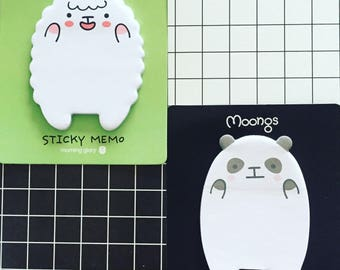 Sheep Sticky Notes, Panda Sticky Notes, Kawaii Post It Notes, Reminder Notes, Memo Pad Stickers, Planner Sticky Notes, Kawaii Lover Gift