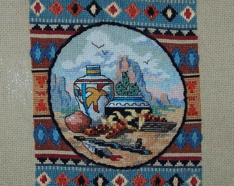 Desert SW Finished Counted Cross Stitch
