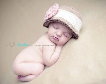 hat crochet pattern  - cloche hat pattern - baby girl patterns - crochet pattern - photo prop pattern - baby crochet pattern