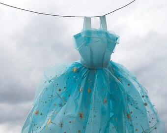 Princess Laundry Day photo Digital Download Photography Cinderella dress girls room blue nursery wall art