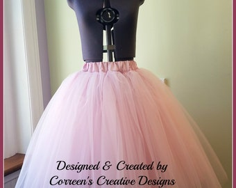 Adult Tea Length Tutu and Flower Crown Set - Flower headpiece - Custom made to order Tutu Skirts - Bridal Tutu Skirt - Photo Prop