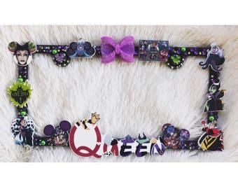 Disney villain license plate frame