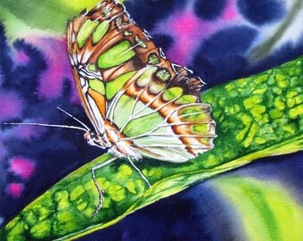 Camouflage -Watercolor print of butterfly original artwork painting
