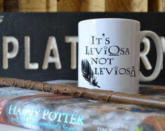 Potter Mug | Wingardium Leviosa Mug | Pottehead Gift | Hermione Quote | Book Quote | Typography | Potter Quote mug