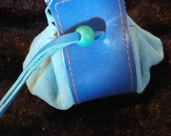 Purse leather and turquoise