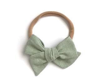 Mini Pinwheel Bow - Willow