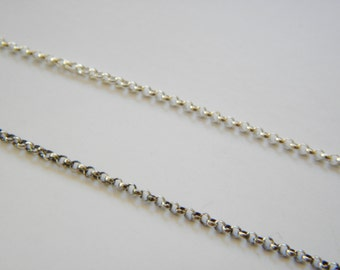 "Sterling Silver Rolo Chain 1.5mm - choose your length 16""-34""- oxidized or un-oxidized-layering chain"